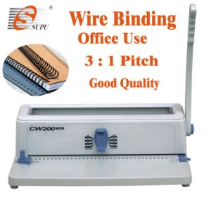 Twin Loop Wire Binding Machine Office Use (CW200 PLUS) pictures & photos