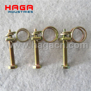 Zinc Plated French Clamp Double Wires Spring Clip pictures & photos