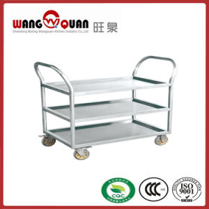 Round Tube 3 Tier Stainless Steel Cart for Hotel and Restaurant pictures & photos