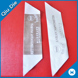 China Professional Quilt Satin Woven Label Wholesale pictures & photos