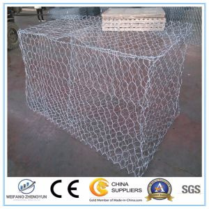 Hot-DIP Galvanized Low Carbon Steel Wire Gabion Box /Hexagonal Mesh Gabion pictures & photos