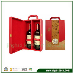Luxury Design Wooden Wine Box with Handle pictures & photos