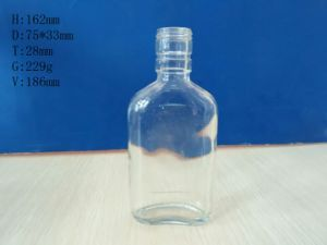 Flat Clear Glass Bottles 180ml pictures & photos