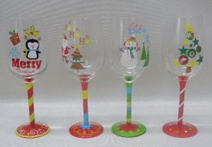 Hand Made and Handpainted Wine Glass (B-WG06) pictures & photos