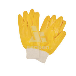 Full Nitrile Coated Interlock Gloves pictures & photos