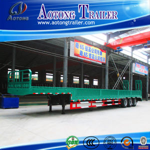 Flat Bed Semi Trailer with Side Wall/Side Panel Cargo Trailer pictures & photos