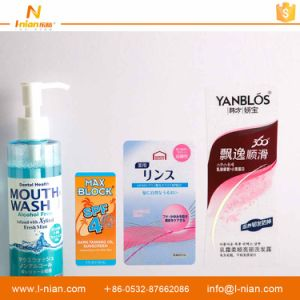 Custom Printed Waterproof Transparent Adhesive Label for Plastic Shampoo Bottles