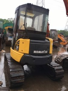 Used Komatsu MIDI Excavators PC55mr-3 with Rubber Track Good Condition pictures & photos
