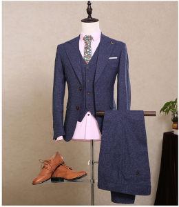 2017 Custom Made Men Navy Blue Formal Wedding Tuxedos Tailored Males Slim Fit Groom Tuxedos for Man 3 PCS (Jacket+Pants+Vest) Ms06