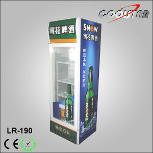 190L Glass Door Upright Refrigerating Showcase with Top Advertising Box (LR-190) pictures & photos