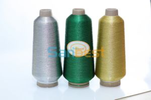 Gold Metallic Embroidery Thread with Polyester or Rayon Core Yarn pictures & photos