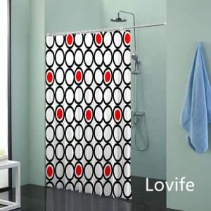 Shower Curtain Bathroom Waterproof Curtain (JG-222) pictures & photos