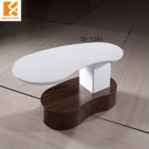 Foshan Newland Furniture ,High Gloss MDF Tea Table Modern Polyresin Coffee Table (TB-N30A)