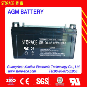 12V AGM Battery 12V 120ah Rechargeable Battery pictures & photos