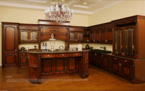 Antique Style Solid Wood Kitchen Cabinet (Br-SA03A) pictures & photos