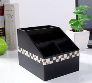 Black Painting Stationery Storage Wooden Box pictures & photos