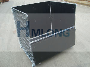 Stackable Galvanized Wire Mesh Folding Container pictures & photos