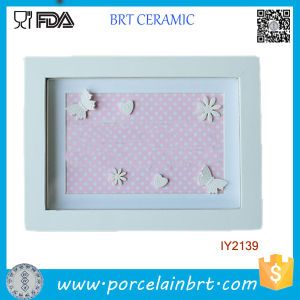 Wholesale Cheap White Rectangle Ceramic Photo Frame pictures & photos