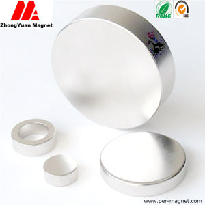 N52 N50 Ni Plated Big Disc NdFeB Permanent Magnets pictures & photos