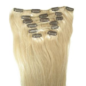 Double Drawn Remy Clip in Human Hair Extension pictures & photos