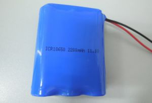 18650 Lithium Ion Battery Pack 11.1V 2200mAh Rechargeable Battery pictures & photos