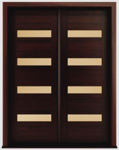Mahogany Modern Solid Wood Exterior Doors, Modern Entry Door pictures & photos