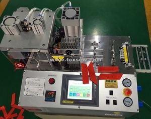 Automatic Angle Webbing Cutting Machine with Hole Puncher pictures & photos