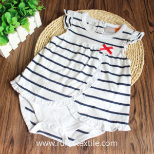Breathable Print 100% Cotton Stripe Romper, Bodysuit for Baby′s