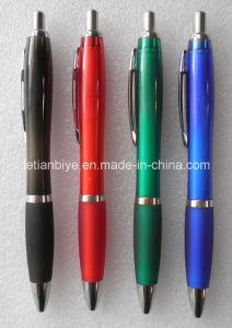 Comfort Rubber Grip Promotion Ball Pen Imprinted Custom Logo (LT-A037) pictures & photos
