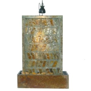 Stone Table Fountain with 1.5W Small Spot Light pictures & photos