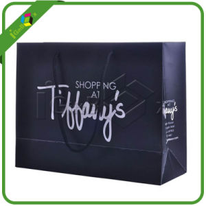 Custom Printed Black Shopping Paper Bags pictures & photos