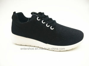 New Design Women Injection Sports Shoes with Glitter Upper (ET-JRX160109W) pictures & photos