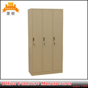 2017 3 Doors Metal Storage Wardrobe Cabinet/Steel Clothing Locker pictures & photos