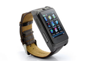 Wrist Watch Phone - 1.8 Inch Touchscreen, Leather Strap