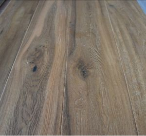 Rustic Style Oak Engineered Wood Parquet Flooring pictures & photos