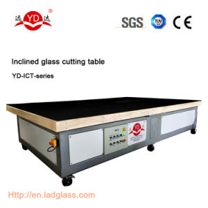 Manual Operation Inclined Glass Cutting Table Machine pictures & photos