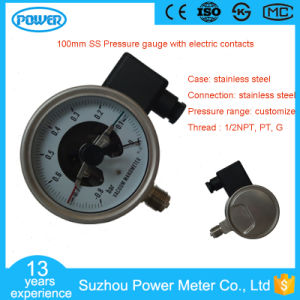 100mm Ss Case Internals Pressure Gauge with Electric Contacts pictures & photos