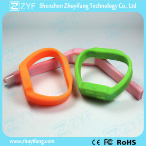 Silicone Watch Bracelet USB Drive with Logo (ZYF1227) pictures & photos