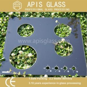Black Printed Tempered Appliance Glass for Gas Stove Top pictures & photos