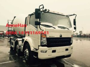 2017 New Model HOWO7 Light 3 Cubic Meters Concrete Pump Mixer Truck 15 Tons with Italy Motor Pto pictures & photos