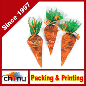 Cellophane Carrot-Shaped Goody Bag (210221) pictures & photos