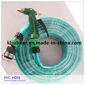 Green PVC Garden Hose with Brass Fittings pictures & photos