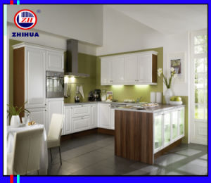 Modern UV High Glossy Kitchen Cabinet (ZH009) pictures & photos
