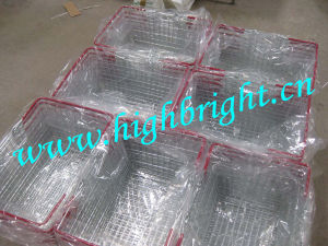 Chrome Supermarekt Steel Metal Wire Shopping Baskets pictures & photos