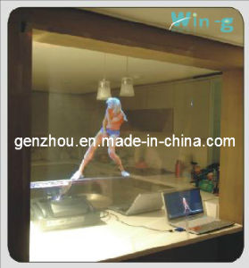 Transparent Holographic Film for Window Shop Dispay