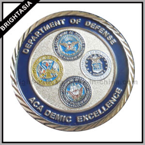 Customize Military Souvenir Coin with Silver Plating (BYH-10853) pictures & photos