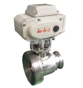 Electric Hygienic Butterfly Valve with Hl-05 pictures & photos