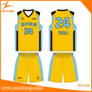 Healong Digitally Printed Pattern Wholesale Basketball Jersey pictures & photos