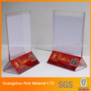 Acrylic Display Menu Stand/Plastic Menu Holder for Restaurant pictures & photos
