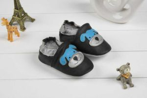 Baby Cow Leather Shoes Soft Sole Prehobbler Shoes (SWBBS1)